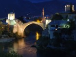 Stari Most at night by Gillian Howell