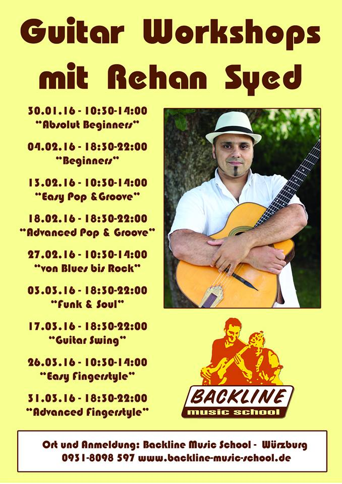 Guitar Workshops mit Rehan Syed