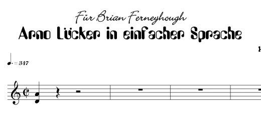 Arno Lücker in einfacher Sprache.