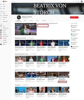 YouTube Kanal Beatrix von Storch