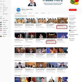 YouTube Kanal Frauke Petry