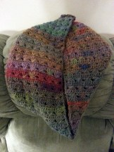 Infinity cowl with Lion Brand Amazing Yarn