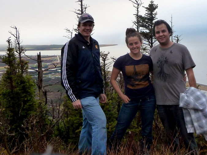 Grant, Ellie and I at Cheticamp - Not a difficult hike, but the rain came and went the whole time.
