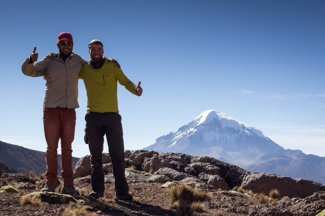 Robert and I near the border with Chile and Sajama in the background