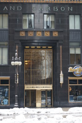 Gorgeous windows at the Carbide and Carbon Building