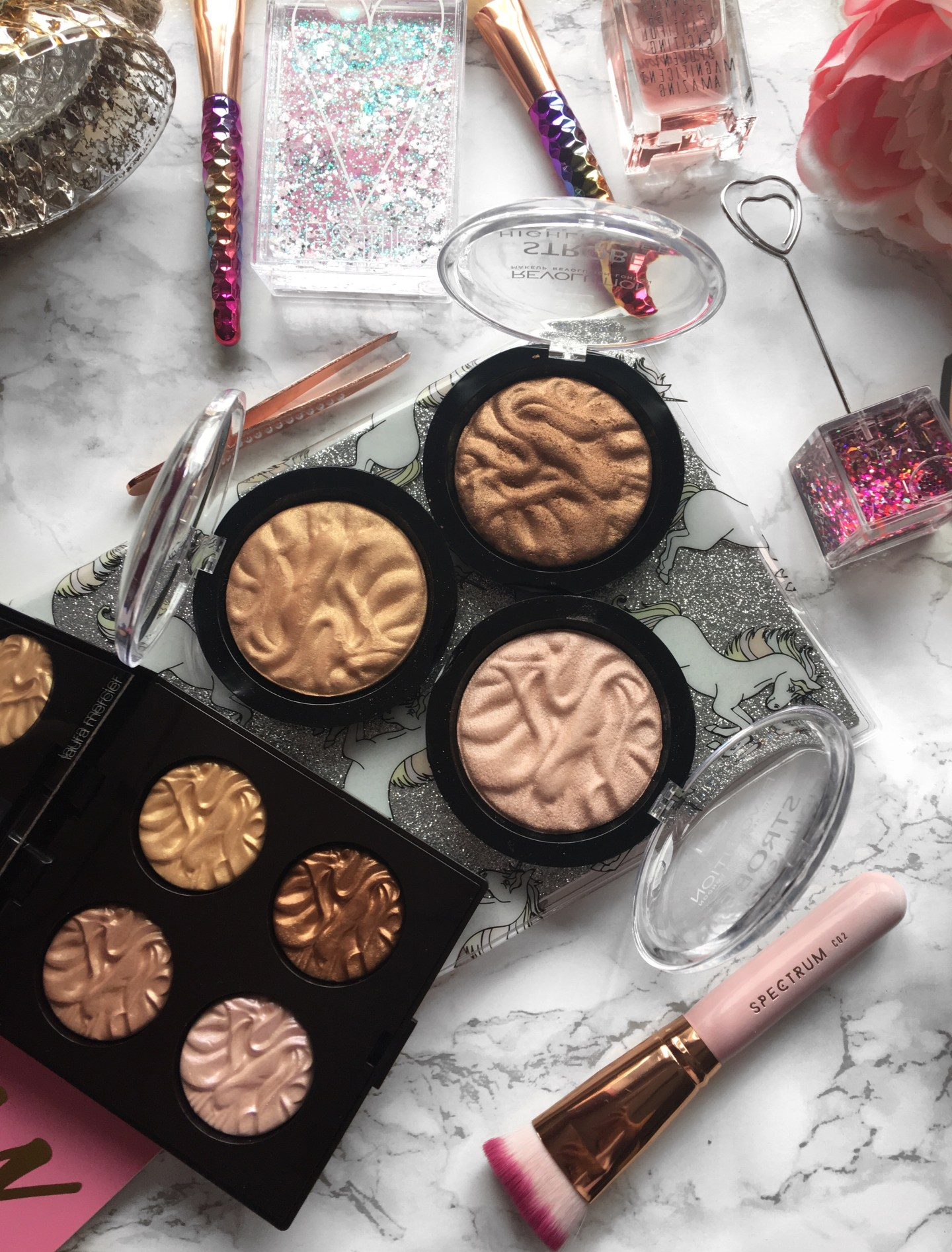 Makeup Revolution Strobe Highlighter Dupes