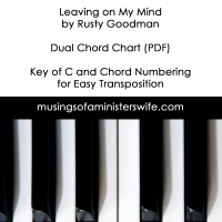 Leaving on My Mind by Rusty Goodman Chord Chart