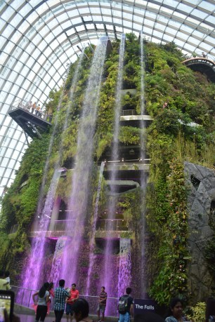 The waterfall inside the Cloud Forest.