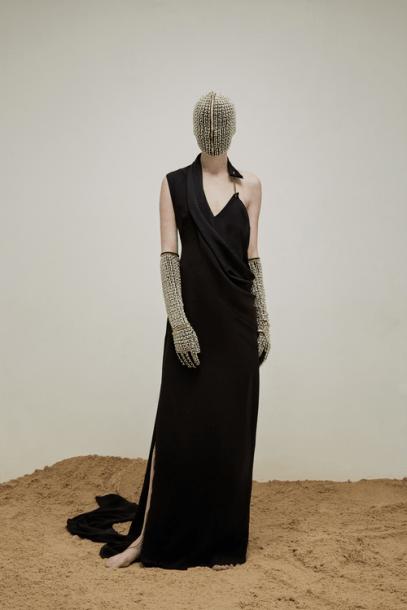 yousef-akbar-black-drape-dress-mask