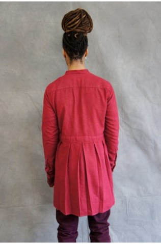 washed silk preist shirt red (2)-350x531