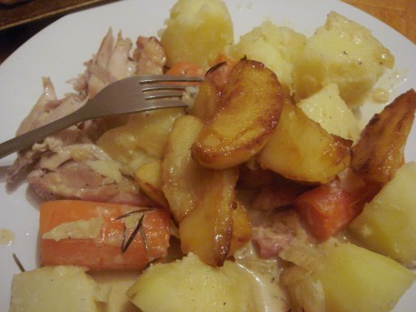 Served with good, plainly cooked root veg