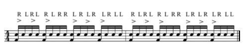 How to play a triple paradiddle in 16th notes