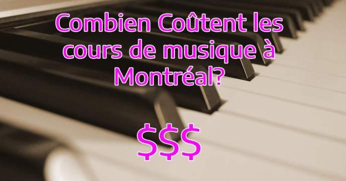 prix des cours de musique à Montréal