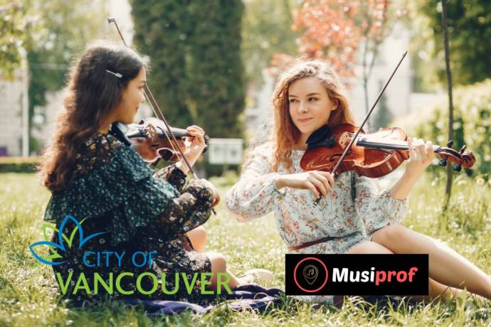 Violin lessons Vancouver - 2 girls playing violin