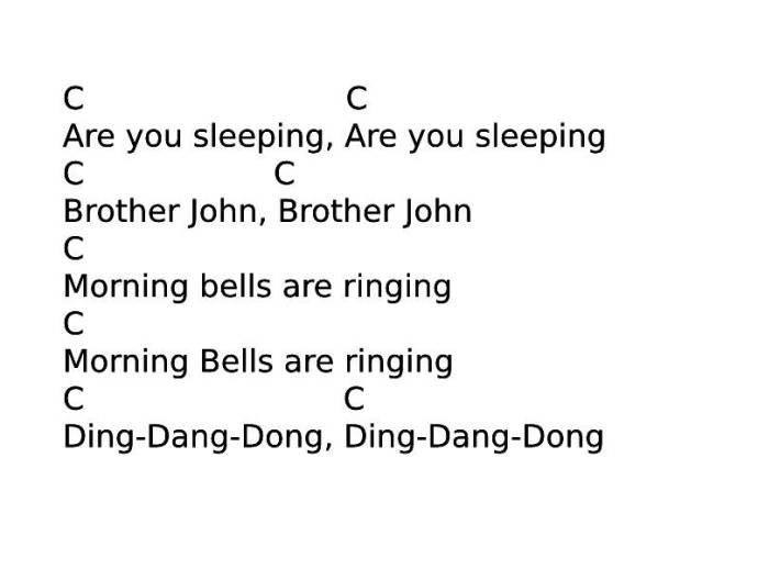 Easy ukulele songs for Kids - Brother John