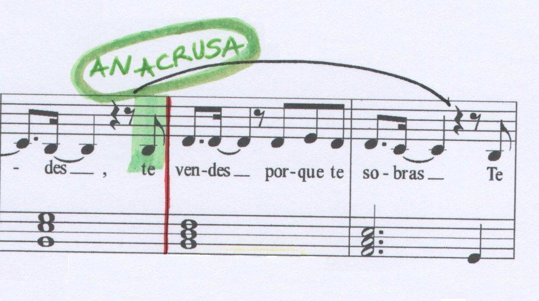 Anacrusa La venda Musiqueando con María