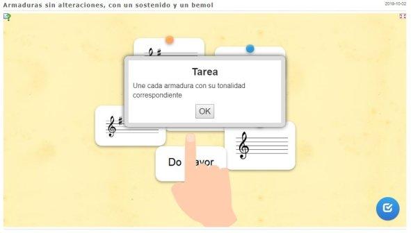 Primera actividad interactiva de música online