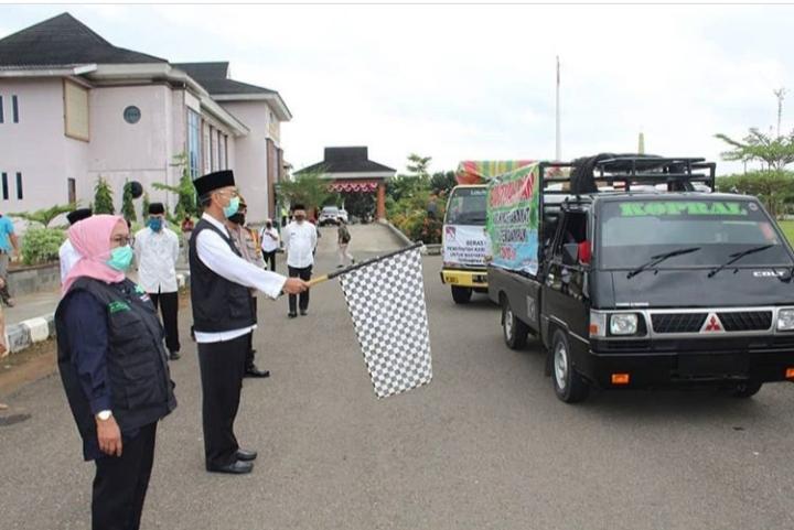 Pendistribusian Bansos Paket Sempurna ke Kecamatan Muara Kelingi dan Muara Lakitan
