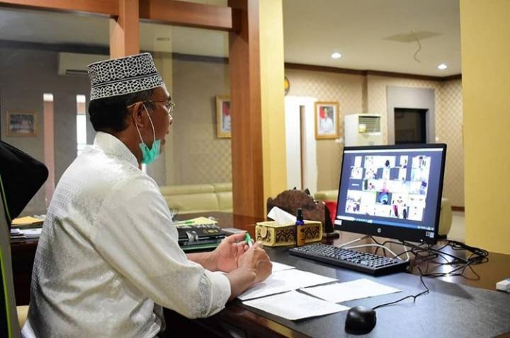 Halal Bihalal Virtual, Bupati : Silaturahmi Tingkatkan Kesehatan Mental dan Perasaan Positif
