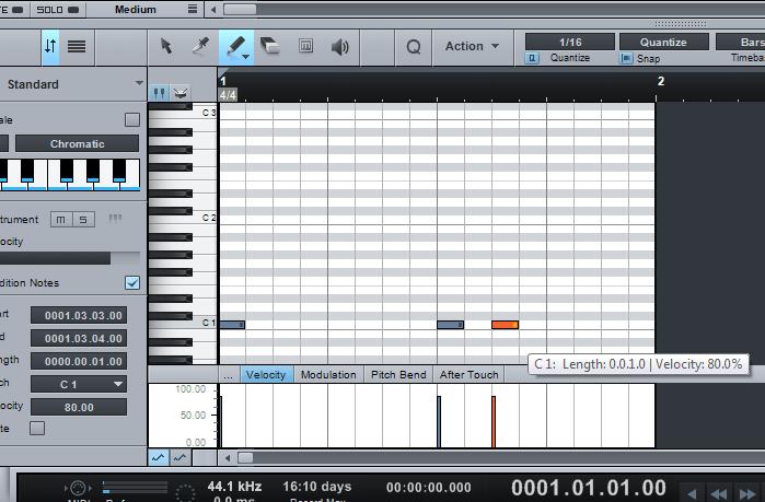 cara membuat partitur gitar midi