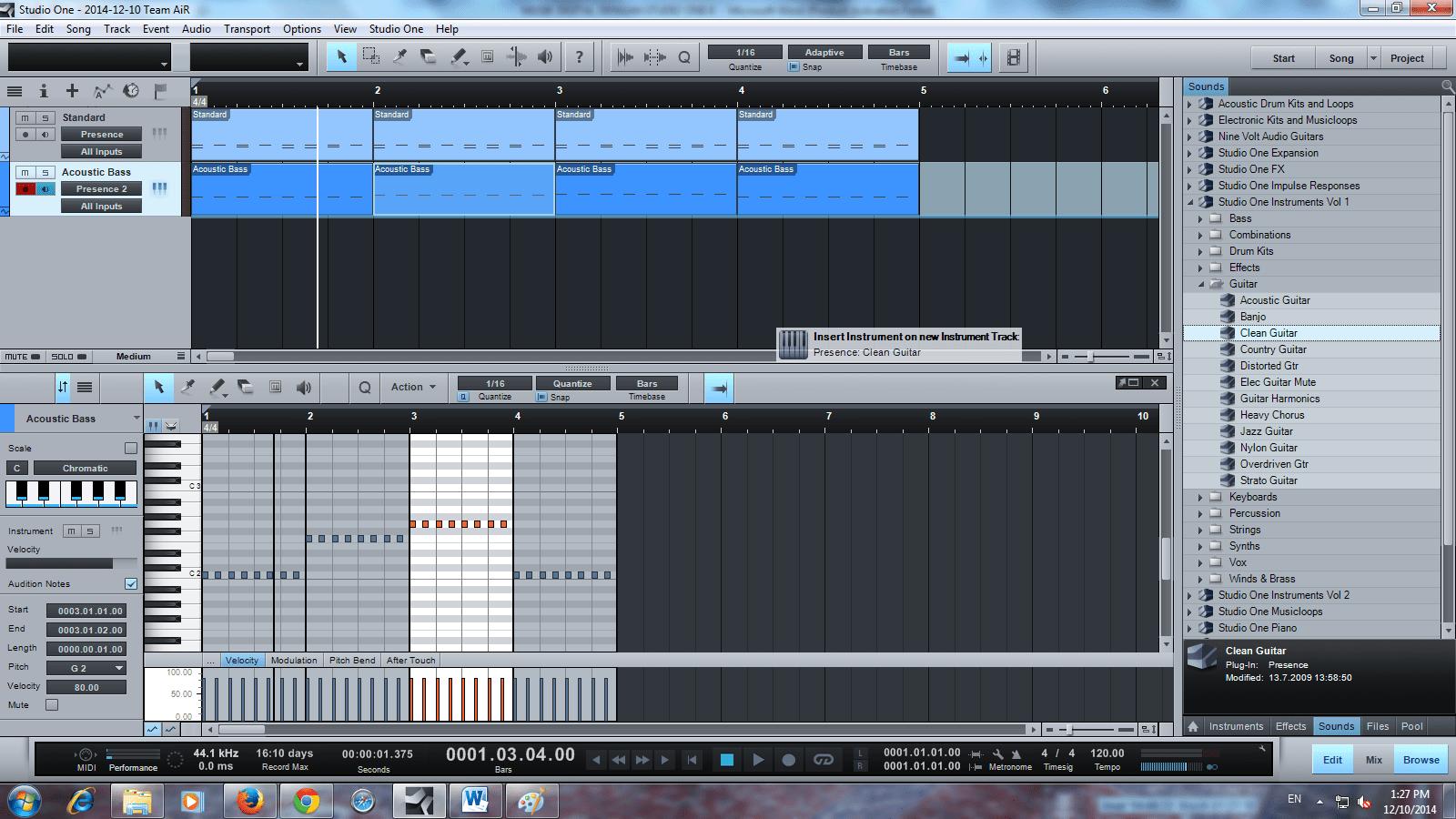 membuat lagu format band