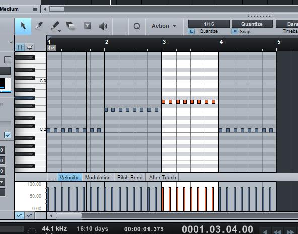 menggabungkan bass dan drum