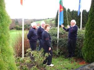 Captain Jim O Driscoll raising the Flag