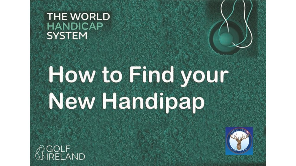 find your new handicap