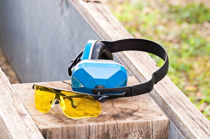 goggles and earmuffs for shooting