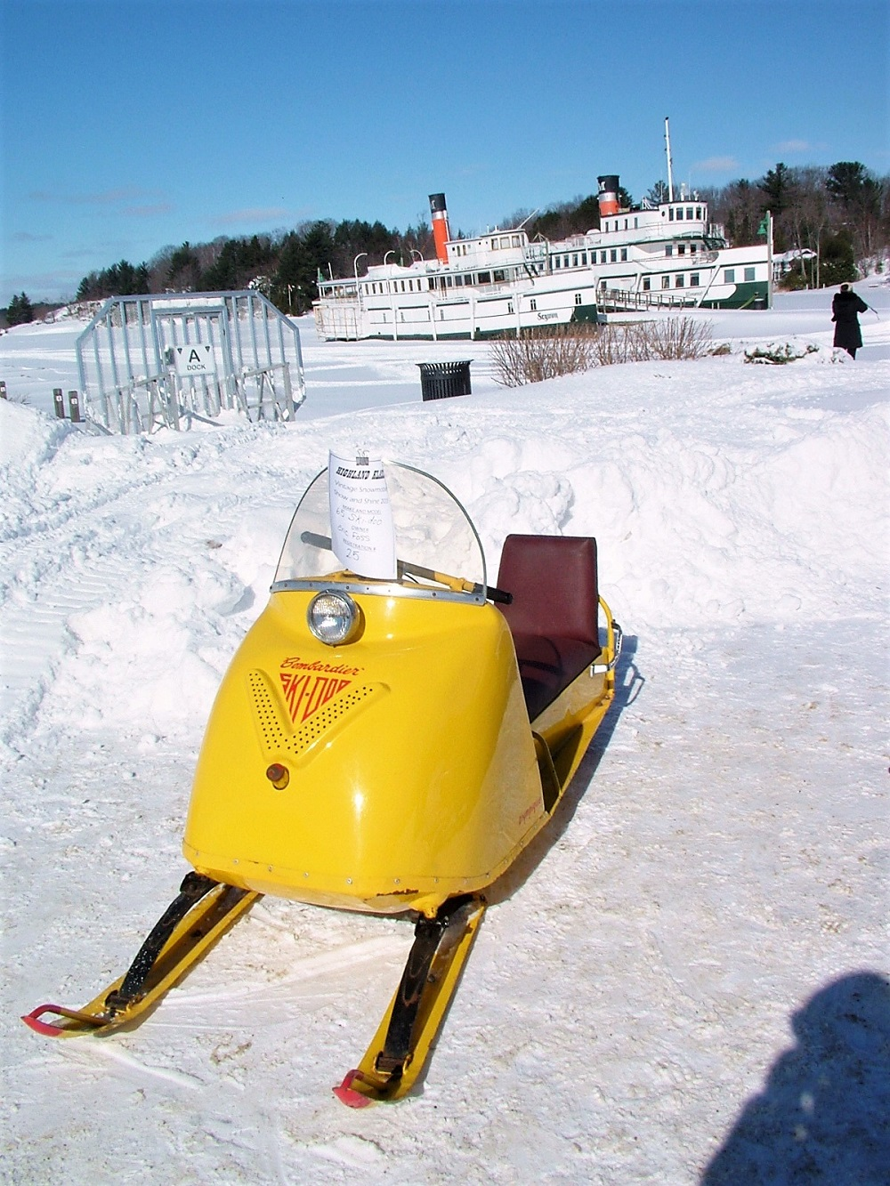 1965 Bombardier Ski-Doo one of vintage snowmobiles at Wharf ...
