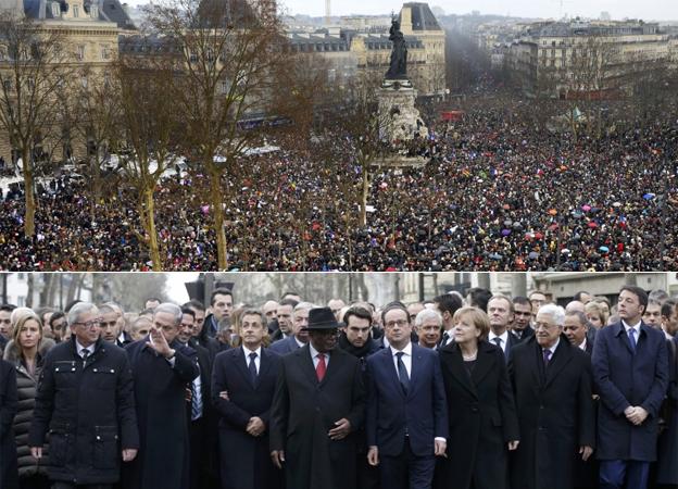 LOL. Look Who's Leading France's Free Speech Rally for Charlie Hebdo.