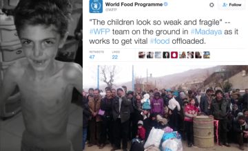 Starving Syrians Cry out for Help in the Siege of Madaya