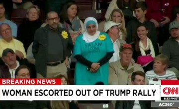 This Is What 'Coming in Peace' To a Trump Rally Looks Like
