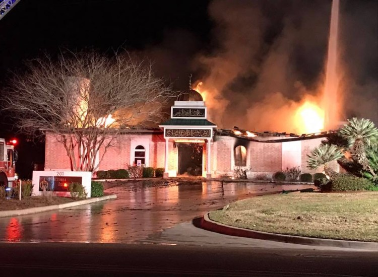 Texas Mosque Destroyed in Fire Just After Trump's Muslim Ban