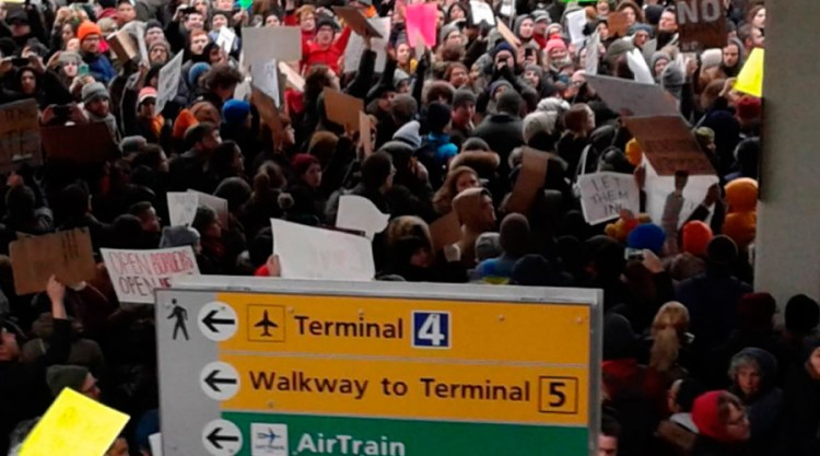 JFK airport protest refugees