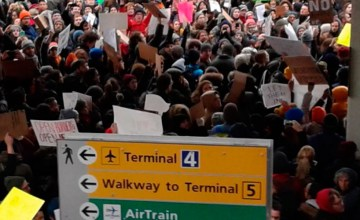 Large Protests Break out at JFK Airport over Refugee Detainment