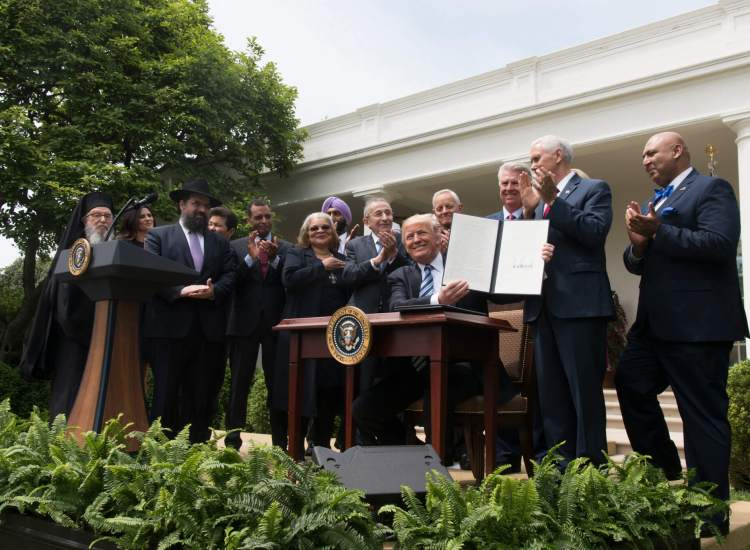 Did Trump Just Sign an Executive Order Reversing Separation of Church & State?