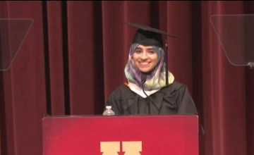 This Graduate Student Spoke at Commencement on Muslims and Allyship in Speech