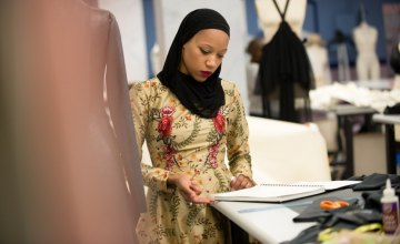 Meet the New Muslim Designer in a Headscarf on 'Project Runway'