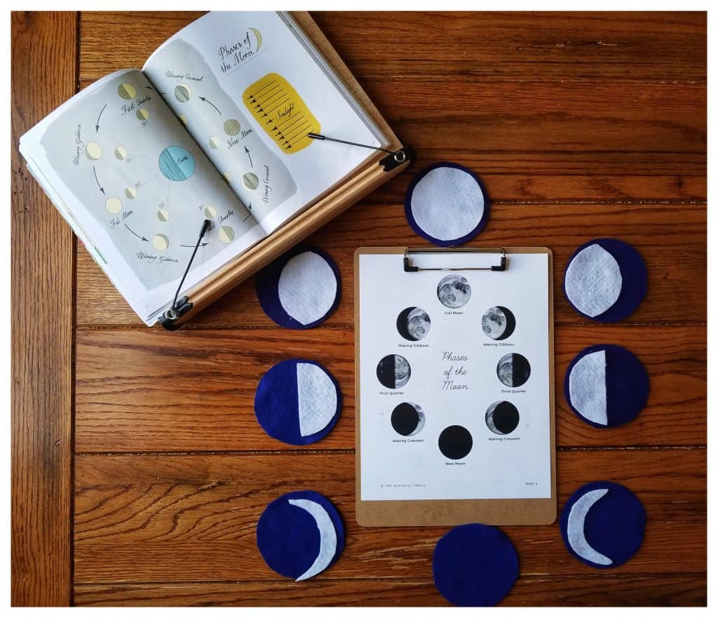 Moon phase learning is a perfect activity for Muslim kids during Ramadan!