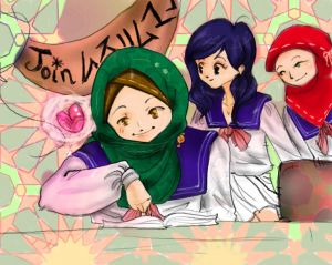 hijabi muslim comic Aya and friends