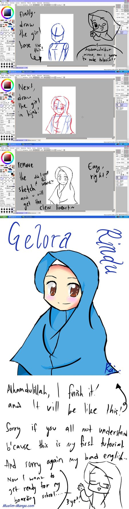 Draw Hijabi Using SAI