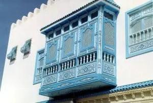 Islamic mashrabiya balcony