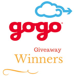 Winners of my GoGo Giveaway for 4 GoGo in flight vouchers-Announced