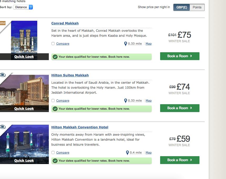 Hilton Hotel Offers Makkah