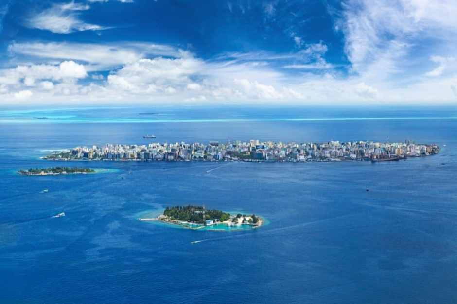 Muslim-Friendly Holiday in the Maldives on a budget View of the Maldivian capital Male |copyrighted