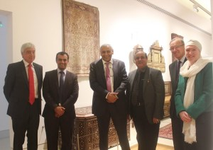 Bob Sutcliffe, HE Khaled al - Duwaisan and attache with Razwan Baig and Mueseum trustees