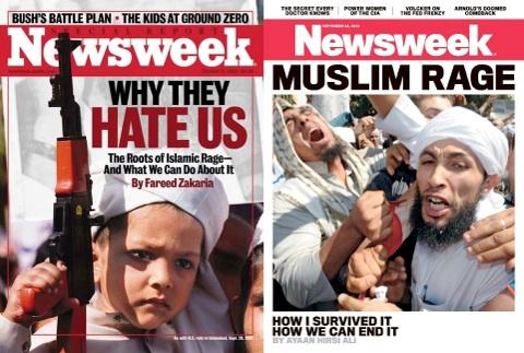 newsweek - Muslim rage - hate / Image source: politico.com