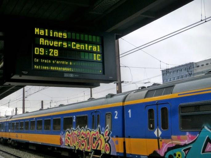 pociąg do Antwerpii