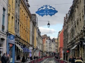 Jedna z ulic w Lille, niestety w trakcie remontu